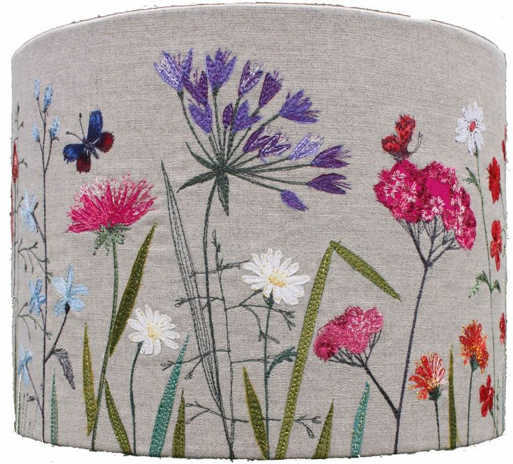 Lara Sparks Embroidery - Embroidered Lampshades - IN LOVE WITH THIS LADY!!                                                                                                                                                     More