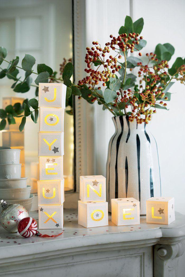 ... de Noël en papier - DIY christmas decoration - marie Claire Idées