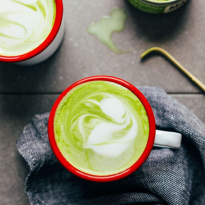 THE BEST Matcha Latte! Creamy Coconut and Macadamia milk make the perfect combo! #vegan #glutenfree #matcha #latte #recipe #minimalistbaker
