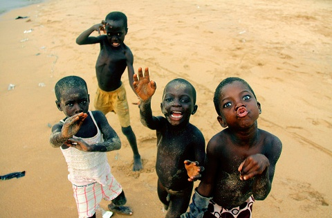 ADORABLE smiles in Zimbabwe.