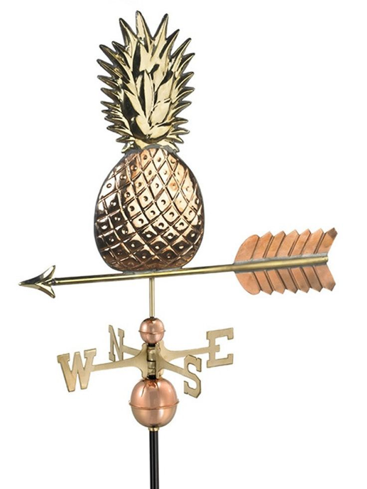 The Tropical Standard Weather Vane makes the perfect crowning accent to your home. This handcrafted and charming weather vane will add sophistication and intricate style to your home. Created from met