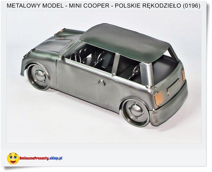 MINI COOPER Duży metalowy model dla kolekcjonera Polskie rękodzieło