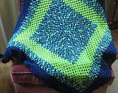 Crazy print cot blanket