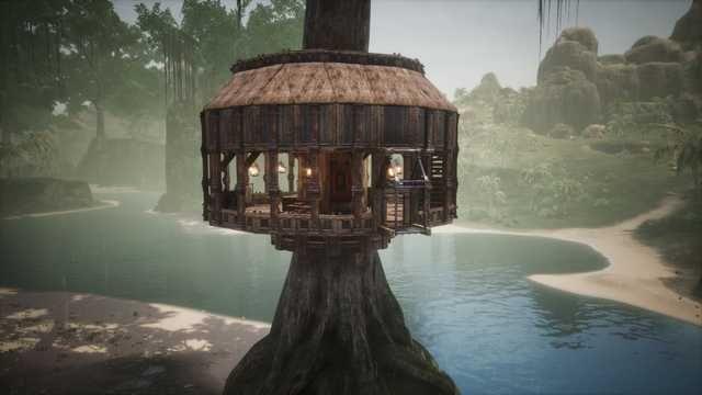Conan Exiles Tree House Build