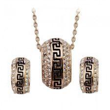 Aranyszín római elegancia kristály ékszerszett - SWAROVSKI® kristállyal díszített szettek - SZETTEK - ÉKSZER