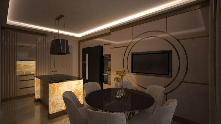 Onyx Kitchen 3 By Fadi Wardeh. 3D Max.