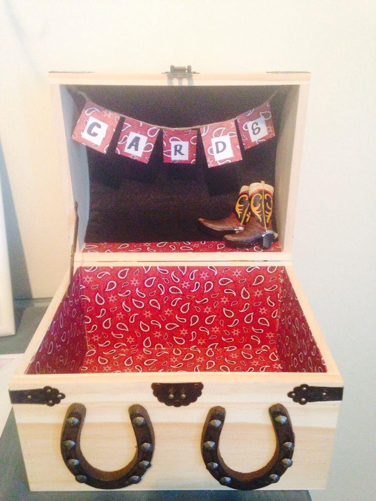 Western theme card box