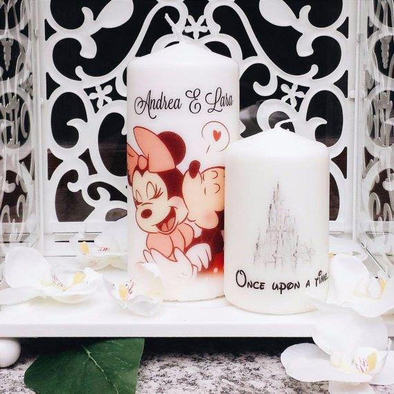 Idee per bomboniere: candele di Minnie e Topolino