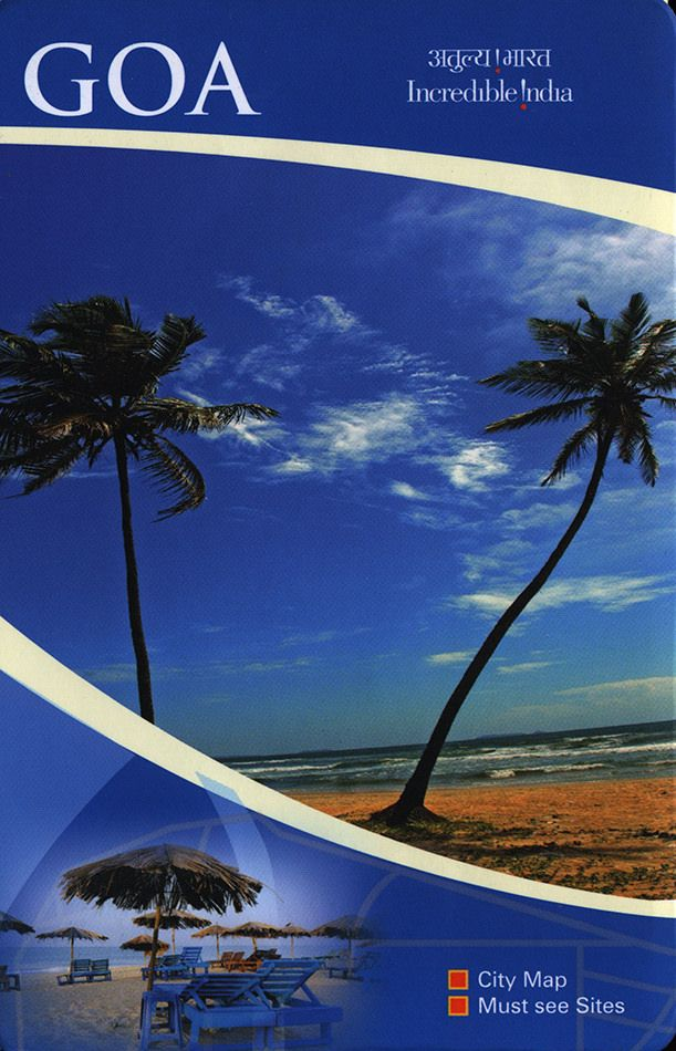 https://flic.kr/p/FW8AEx | Goa City Map, Must see Sites; 2015_1 map, India | tourism travel brochure | by worldtravellib World Travel library