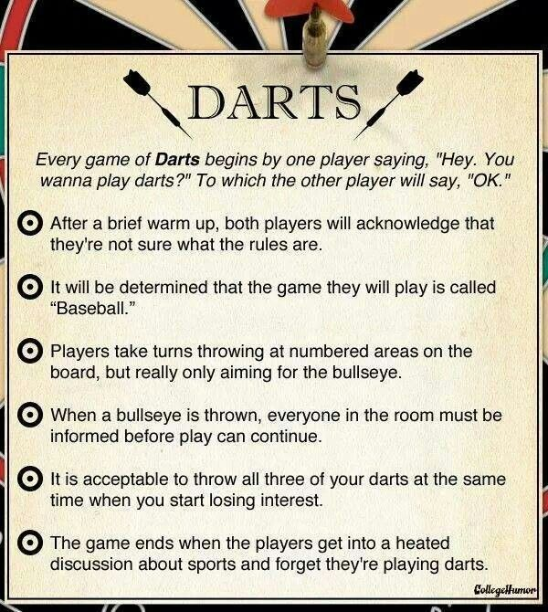how to play darts rules