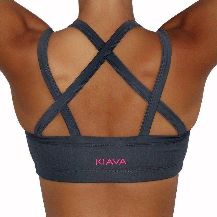 Kiava Endurance Bra - Charcoal Grey