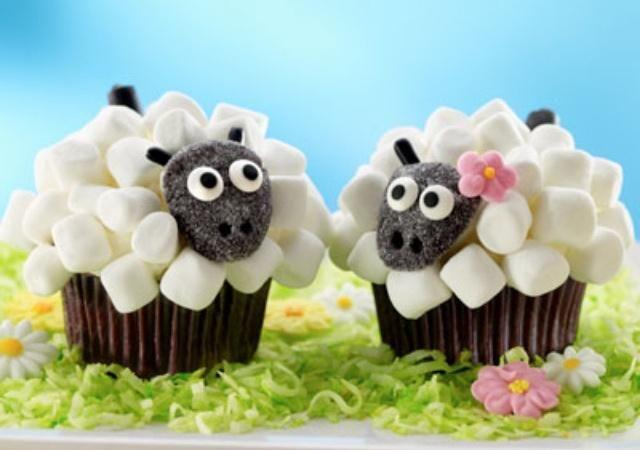 cupcakes con forma de animales para ninos