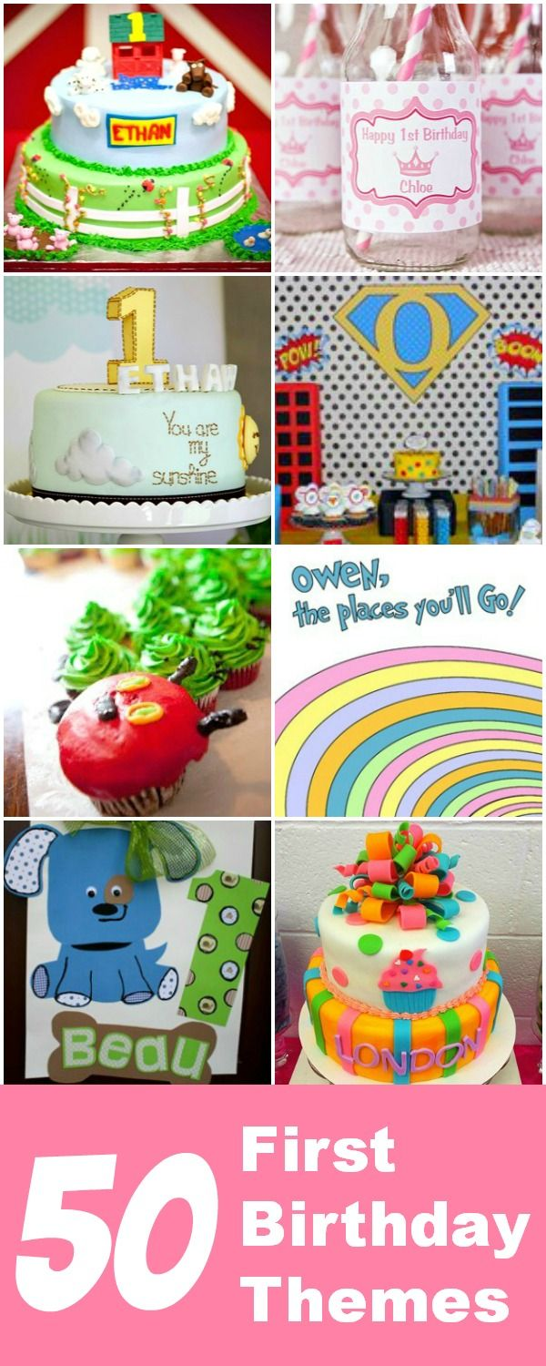 50+ first birthday party theme ideas