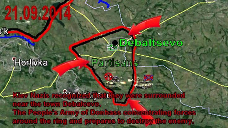 War in Ukraine 21/09/2014 Lugansk-Donetsk-Mariupol. The Fighting Map