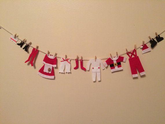 Sr. y Sra. Santa Claus Mini lavadero por HomemadeHeartfelt en Etsy