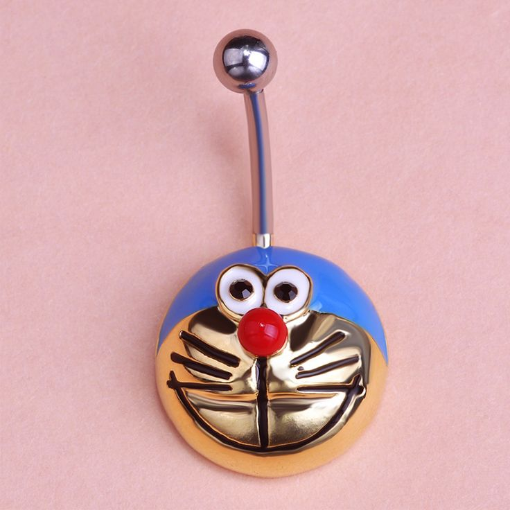 Gold Enamel Cartoon Kawaii Body Piercing Navel Belly Button Rings Accessories Percing Pircing Sex Jewelry Bijou Pircing Pirsing