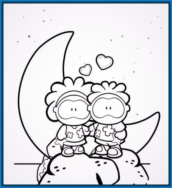 Dibujos Faciles De Amor A Lapiz Kawaii Para Dibujar Imprimir