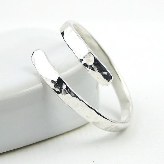 Hammered Sterling Silver Ring Thumb Ring Wrap by PuranaJewellery, £18.00