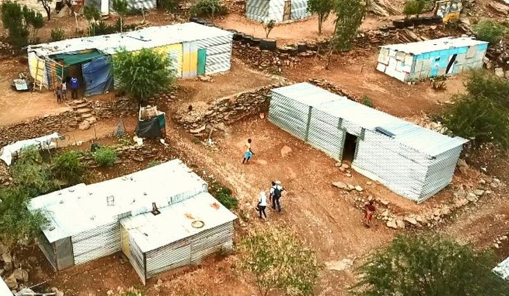"""I followed Ponty into the """"location"""" or informal settlements on the outskirts of Windhoek to deliver Elephant Energy solar lights to people without access to electricity. I was able to test out my new drone but first I had to perform some surgery on the gimbal from a recent crash.  @elephantenergy #drone #djimavicpro #location #katutura #windhoek #namibia #elephantenergy #sunking #solar #solarlights #renewableenergy #developmentwork #diy"""