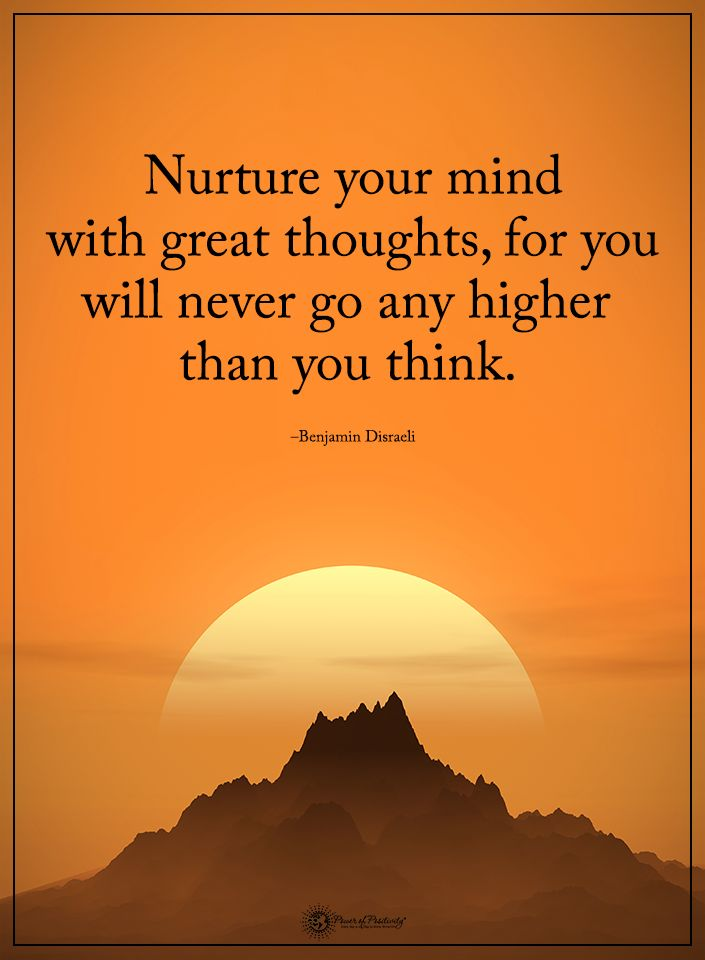 Nurture your mind with great thoughts, for you will never go any higher than you think