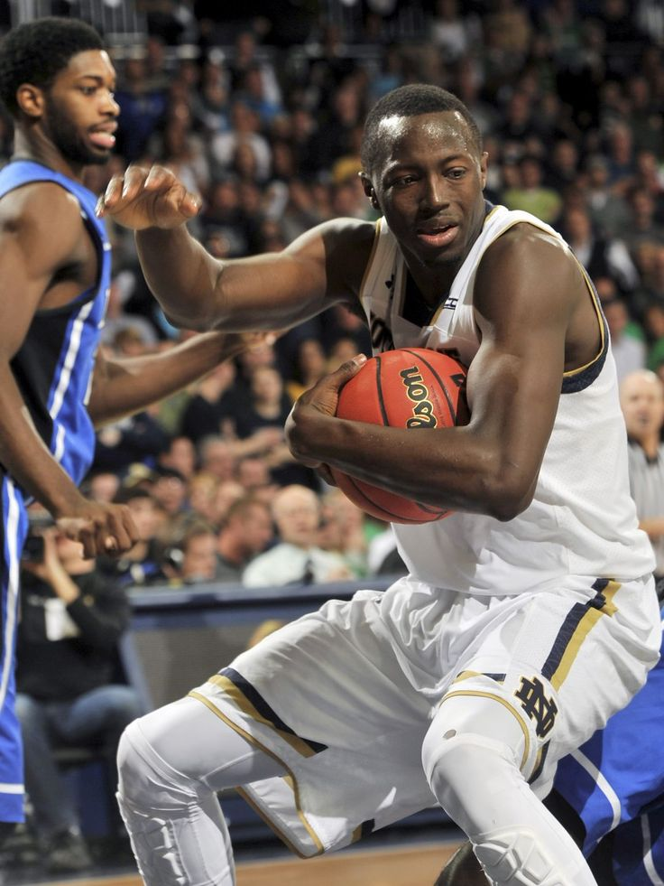 Notre Dame guard Jerian Grant grabs a rebound in the