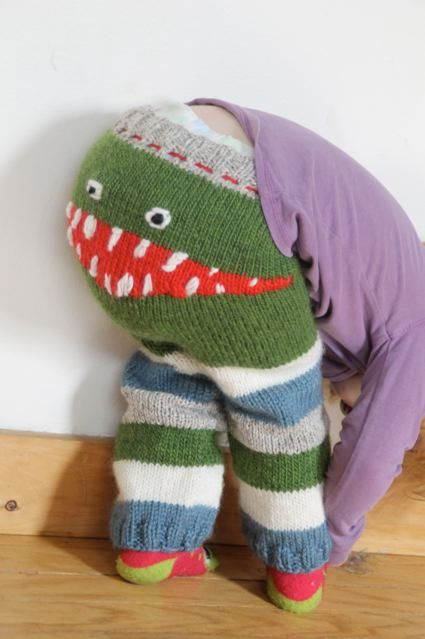 Hand Knit Monster Leggings for Baby by ricesbeans on Etsy