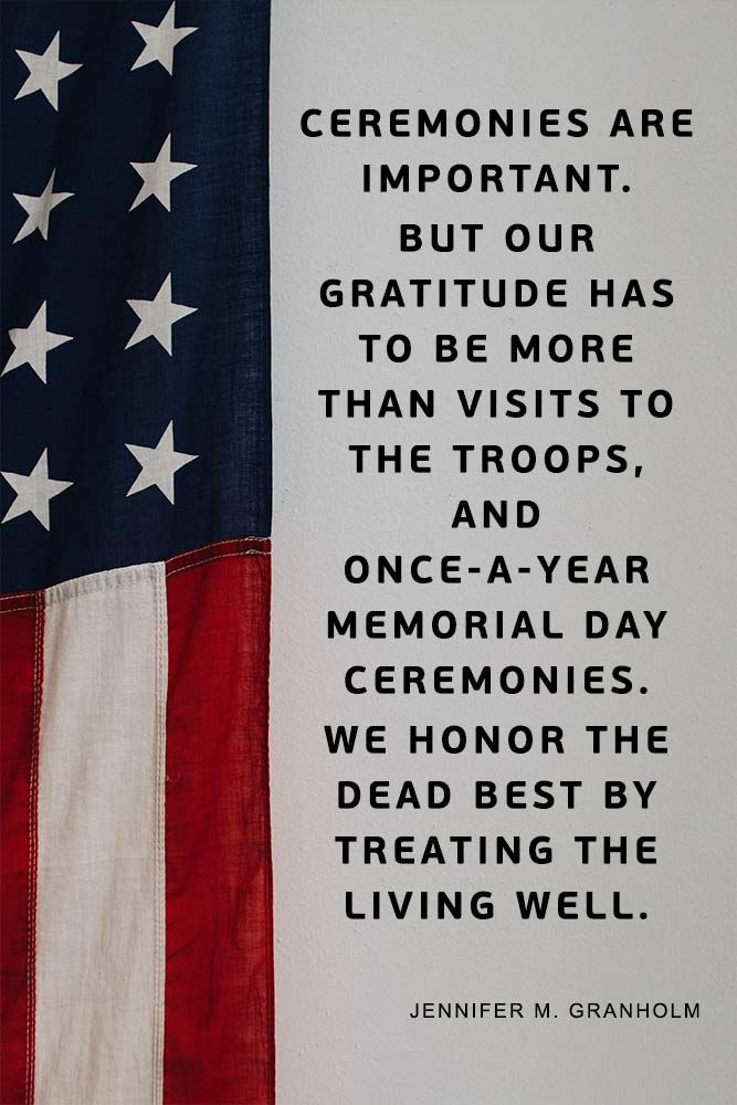 A Collection Of Honorable And Patriotic Memorial Day Quotes