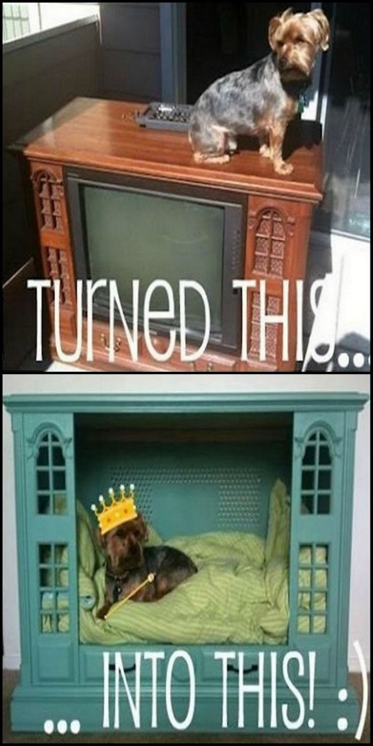 How To Turn An Old TV Console Into A Dog Bed  http://theownerbuildernetwork.co/i9hy  A friend told me a few days back how he had just taken two old, timber cabinet TV's to landfill! He couldn't think of anything to do with them. This idea could have saved them :(