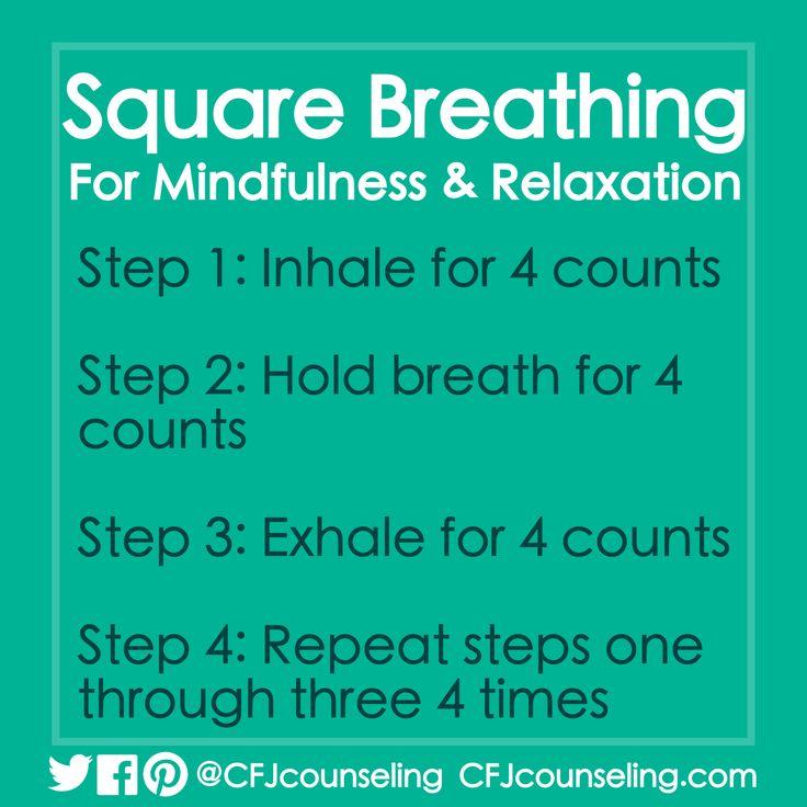 Square Breathing Mindfulness & Relaxation Exercise #MindfulMonday