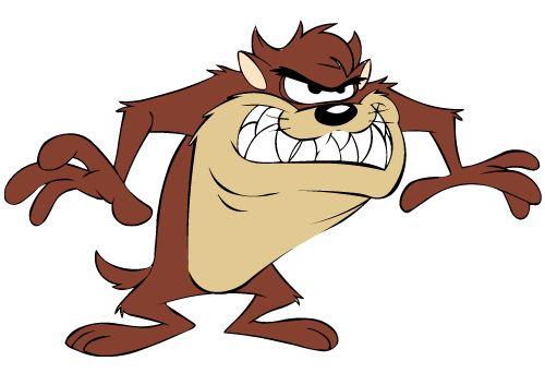 Taz, the Tazmanian Devil from Looney Tunes