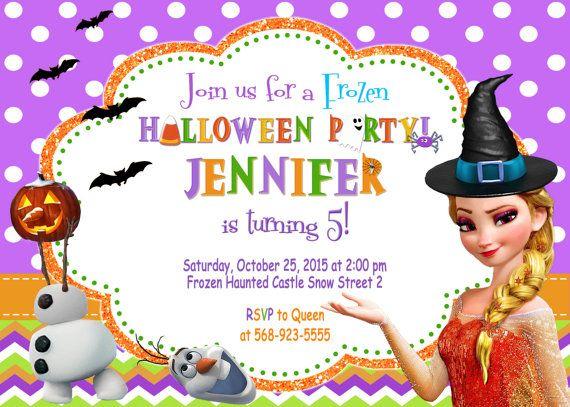 Frozen Halloween Invitation Birthday Party por ...