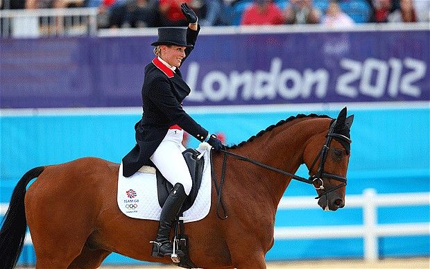 Zara Phillips - London Olympics 2012: Zara Phillips and Tina Cook keep Team GB's medal hopes alive in dressage