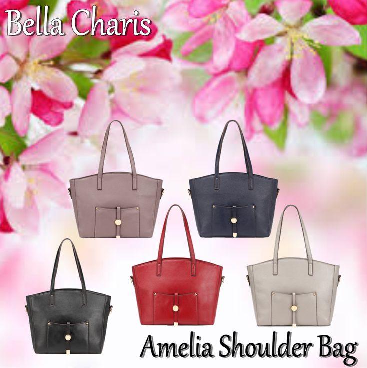 Bella Charis Amelia Leather Shoulder Bag [5 colours]