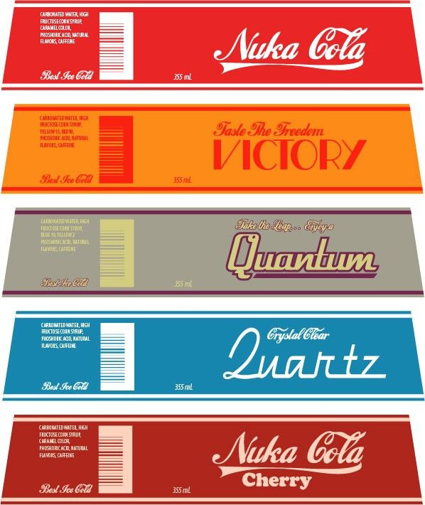 image about Nuka-cola Quantum Printable Label identified as thebrownfaminaz: Nuka Cola Label Printout