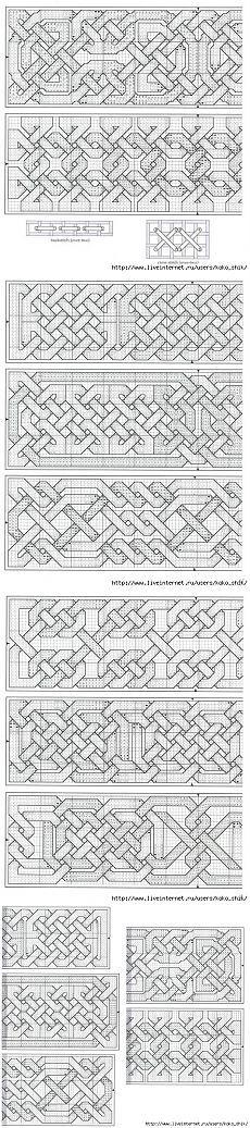 Вязание спицами - кельтские мотивы - схемы                                                                                                                                                     More