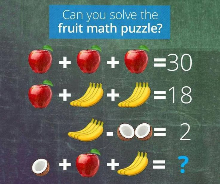 Happy #Friday everyone! Let's start the weekend off with this fun fruit math puzzle. Do you know the answer? #Flordis #KeenMind #BrainTeaser