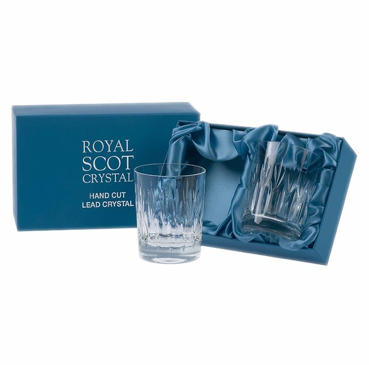 Pair of Sapphire Crystal Whisky Tumblers