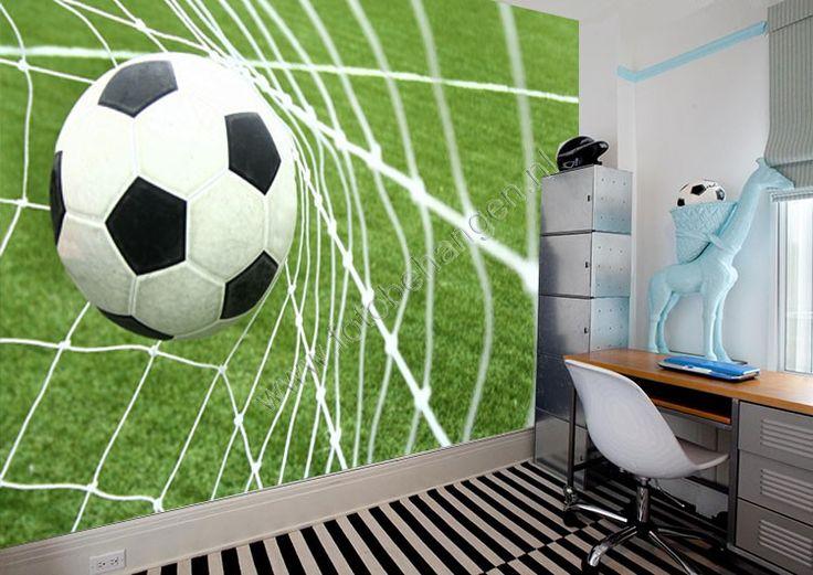 fotobehang voetbal in doel - Google zoeken