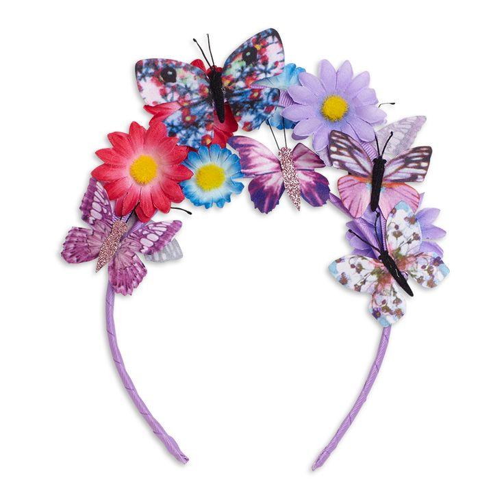Diadem med blommor, Rosa, Accessoarer, Barn | Lindex