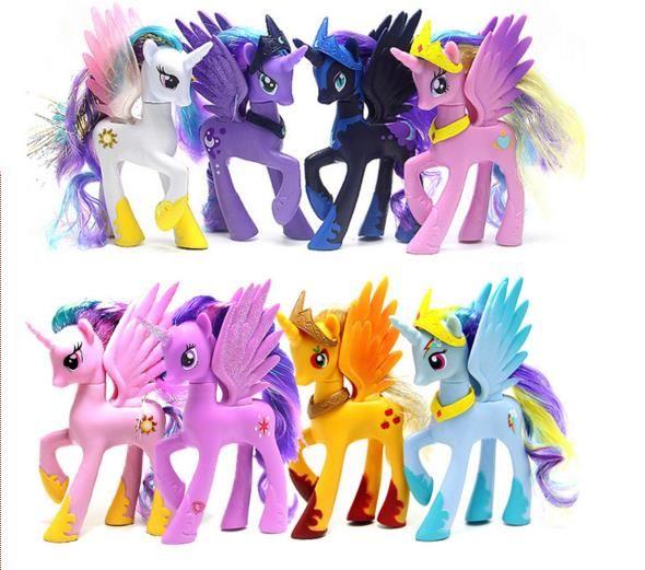 Hot My Anime Toy Collection Princess Celestia Luna Nightmare Night Little Cute Unicorn Rarity Kunai Horse Toys