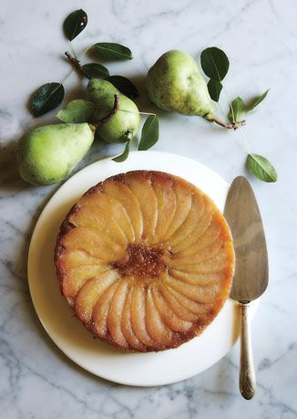 Pretty styling | Pear Upside-Down Cake