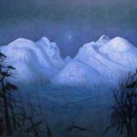 "Sohlberg, Harald - "" Notte d'inverno tra le montagne""  (1914 c.)"