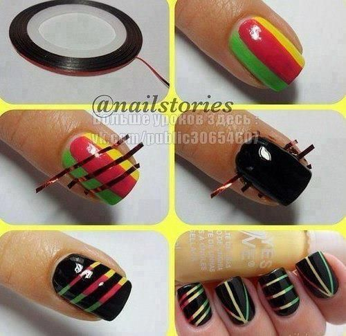 ..Nails Art, Nailart, Nails Design, Nailsart, Nails Ideas, Nails Polish, Rasta Nails, Scratch Art, Nails Tutorials