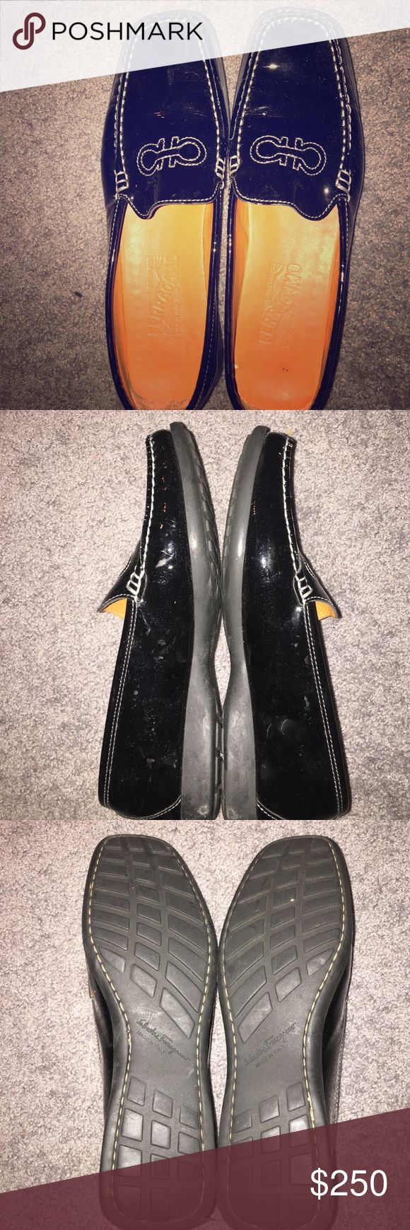 Salvador Ferragamo black leather shoes Black leather loafers, like new condition Ferragamo Shoes Flats & Loafers