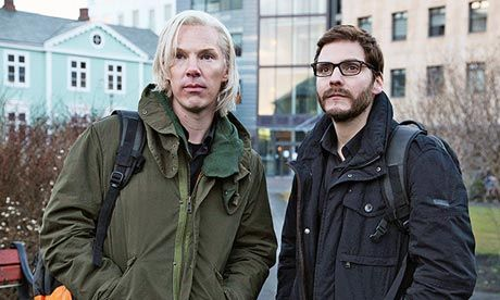 Great article from The Guardian - As Julian Assange in The Fifth Estate, with Daniel Brühl as Daniel Domscheit-Berg. Photograph: AP