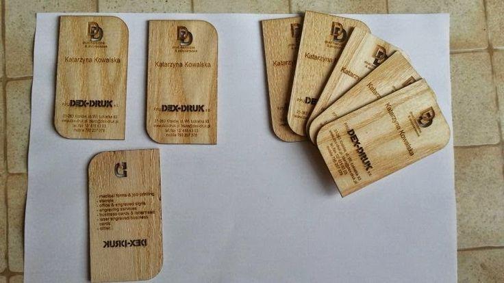 Rendi il tuo Biglietto da Visita indimenticabile. Dex -Druk Business Cards, laser incisi, sono un prodotto unico e su misura. info@dex-druk.pl