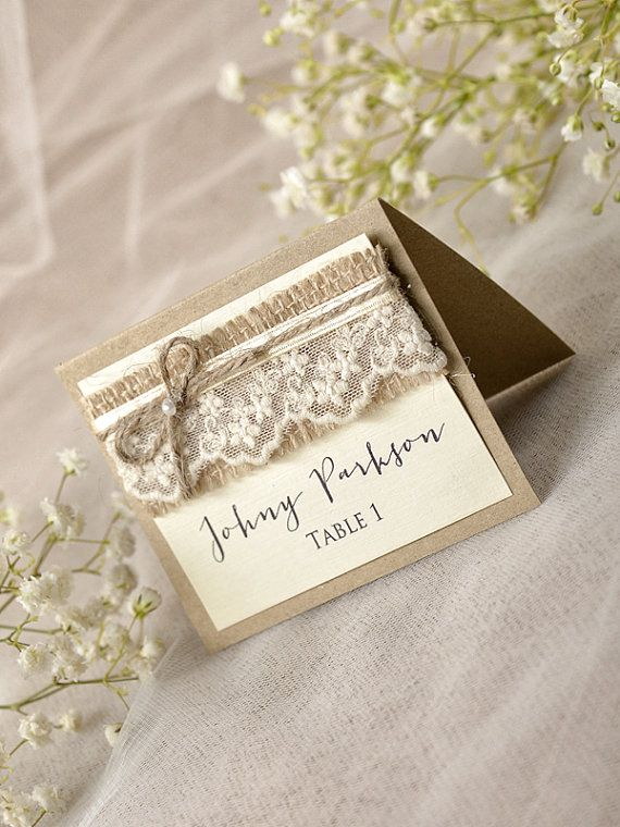 Best 25 rustic place cards ideas on pinterest wedding for Place card for wedding