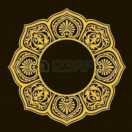 Vector of traditional persian arabic turkish islamic pattern stock photo 19 - Stickers pour plafond ...