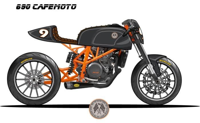 RSD KTM 690 CafeMoto Can't wait to see the finished bike.