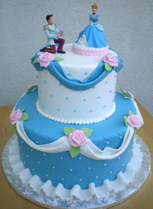 Disney Cinderella Birthday Cake and Cupcake Decorating Ideas future wedding cake @Anna Totten Totten Dool